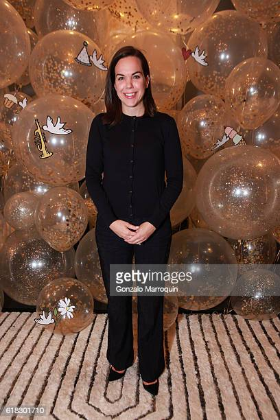 Elizabeth Holmes at the Darcy Miller's 'Celebrate Everything' Launch at Jonathan Adler Showroom at Jonathan Adler Showroom on October 25 2016 in New...