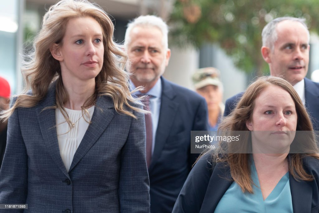 Elizabeth Holmes Theranos Court Hearing : News Photo