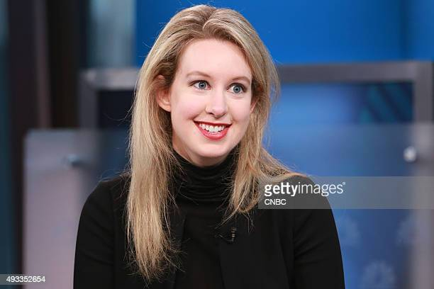BOX Elizabeth Holmes Theranos CEO and the world's youngest selfmade female billionaire in an interview on September 29 2015