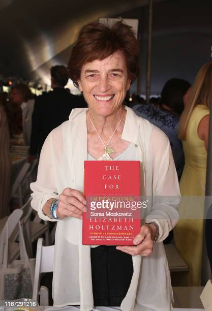 Elizabeth Holtzman at the East Hampton Library's 15th Annual Authors Night Benefit on August 10 2019 in Amagansett New York