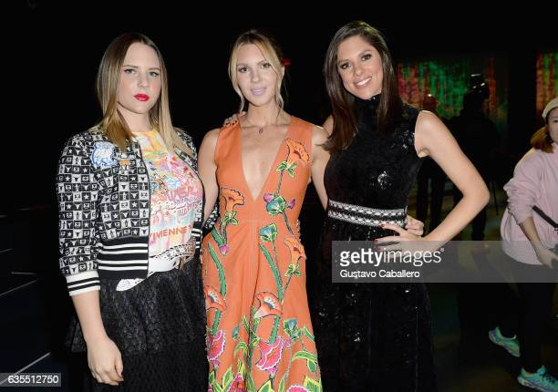 Elizabeth Huntsman Mary Anne Huntsman and Abby Huntsman attend Vivienne Tam FW2017 Runway Show show at Gallery 1 Skylight Clarkson Sq during New York...