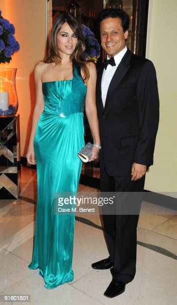 Elizabeth Hurley and Arun Nayar attend The Louis Dundas Centre for Children's Palliative Care launch party at Claridge's on October 8 2009 in London...
