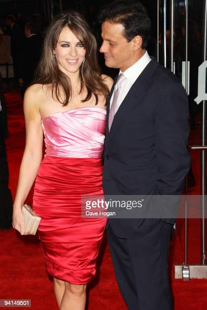 Elizabeth Hurley and Arun Nayar attends the gala premiere of Did You Hear About The Morgans held at the Odeon Leicester Square on December 8 2009 in...
