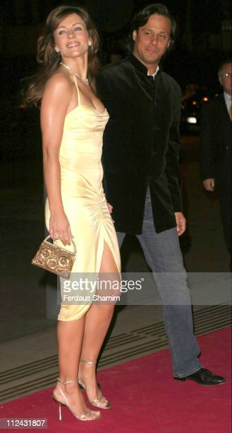 Elizabeth Hurley and Arun Nayer during 'Beauty Week' at the VA Museum Launch Party at Victoria Albert Museum in London Great Britain