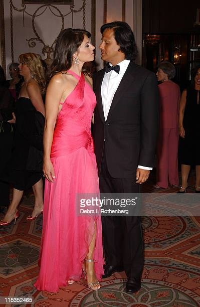 Elizabeth Hurley and Arun Nayer during HOT PINK PARTY Hosted by Elizabeth Hurley and Sir Elton John at Waldorf Astoria in New York City New York...