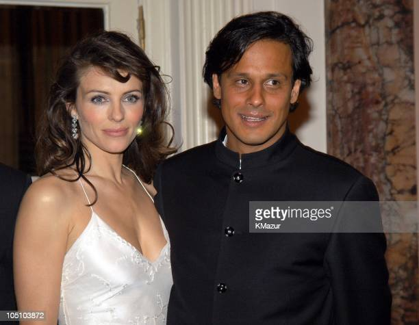 Elizabeth Hurley and Arun Nayer during The Breast Cancer Research Foundation A Night to Remember at Waldorf Astoria in New York City New York United...