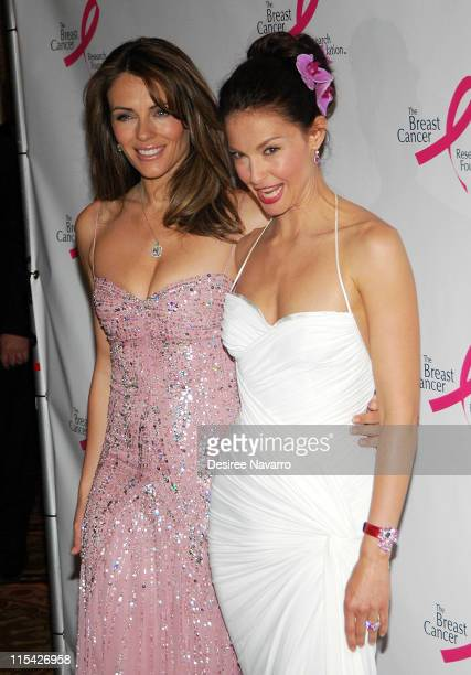 Elizabeth Hurley and Ashley Judd during The Breast Cancer Research Foundation Presents 'The Very Hot Pink Party' April 10 2006 at Waldorf Astoria in...