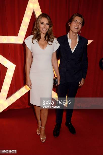 Elizabeth Hurley and Damian Hurley attend the 'Paddington 2' premiere at Odeon Leicester Square on November 5 2017 in London England