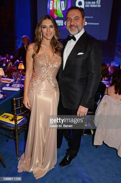 Elizabeth Hurley and David Walliams attend the Opening Night Gala of The Band to benefit the Elton John AIDS Foundation supported by The Evening...