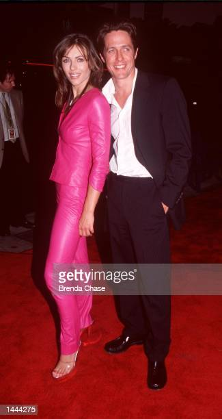 Elizabeth Hurley and Hugh Grant attend the premiere of Mickey Blue Eyes August 17 2000 in Westwood CA The couple of 13 years have decided to call it...