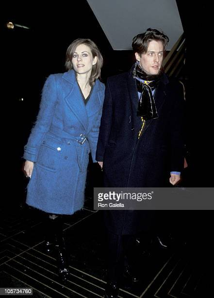 Elizabeth Hurley and Hugh Grant during 'City Hall' New York City Premiere at Ziegfeld Theater in New York City New York United States