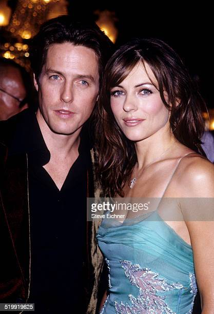 Elizabeth Hurley and Hugh Grant premiere of 'Mickey Blue Eyes,' New York, August 11, 1999.