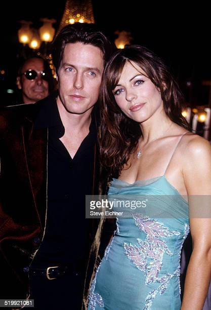 Elizabeth Hurley and Hugh Grant premiere of 'Mickey Blue Eyes,' New York, August 11, 1999.