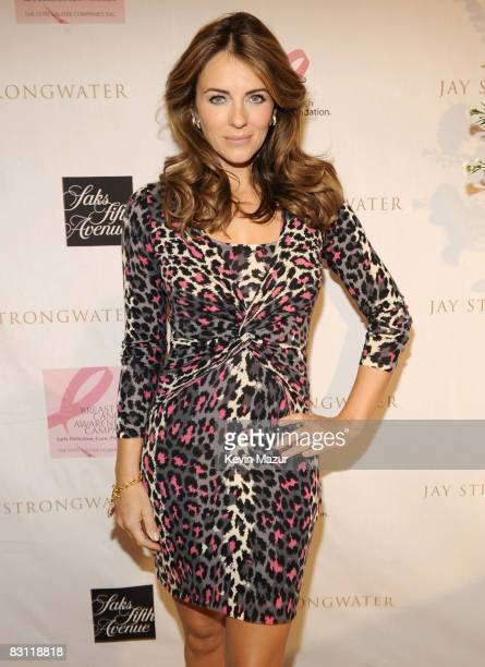 Elizabeth Hurley and Jay Strongwater celebrate his limited edition pink reflections compact to Benefit Breast Cancer Research Foundation at the Short...
