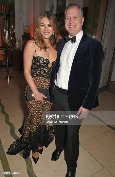 Elizabeth Hurley and Mowbray Jackson attend the BOVET 1822 Brilliant is Beautiful Gala benefitting Artists for Peace and Justice's Global Education...
