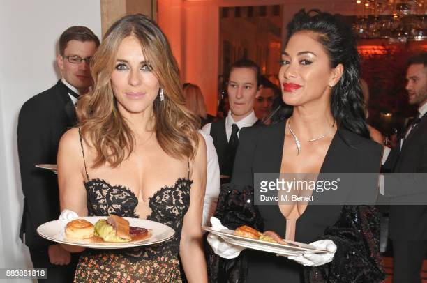 Elizabeth Hurley and Nicole Scherzinger serve dinner at the BOVET 1822 Brilliant is Beautiful Gala benefitting Artists for Peace and Justice's Global...