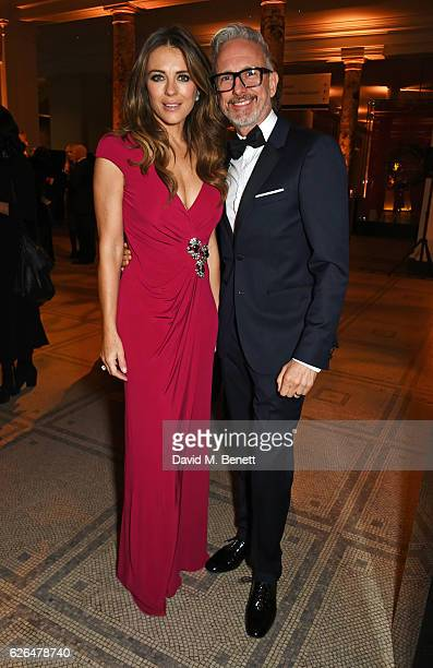 Elizabeth Hurley and Patrick Cox attend as PORTER hosts a special performance of Letters Live in celebration of their Incredible Women of 2016 at The...