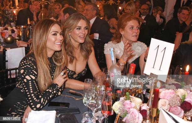 Elizabeth Hurley and Sarah Ferguson Duchess of York attend the BOVET 1822 Brilliant is Beautiful Gala benefitting Artists for Peace and Justice's...