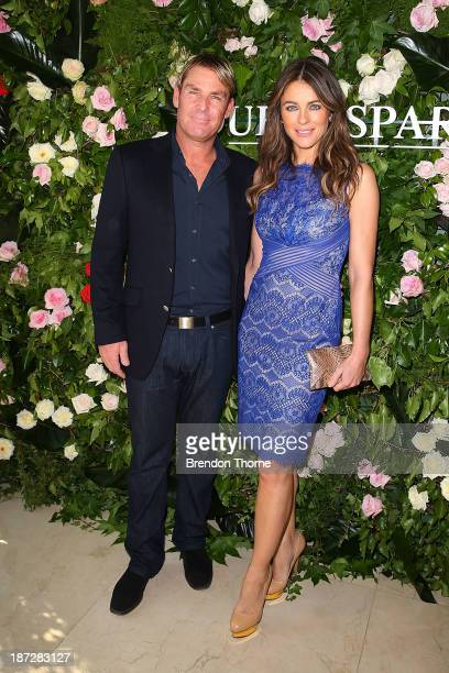 Elizabeth Hurley and Shane Warne attend a Queenspark breakfast to celebrate the brand's Summer 2013 collection on November 8 2013 in Sydney Australia