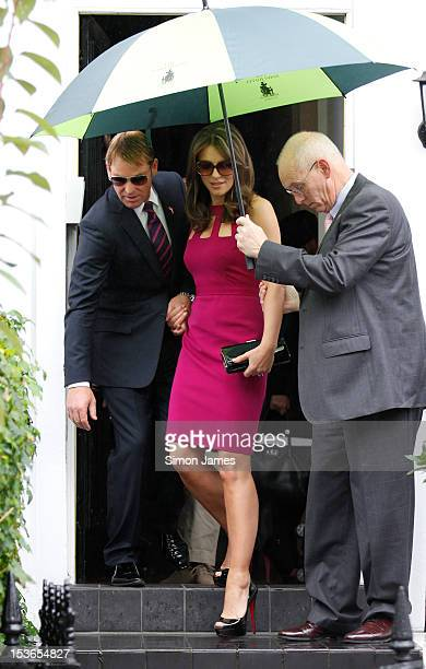 Elizabeth Hurley and Shane Warne sighting on October 8 2012 in London England