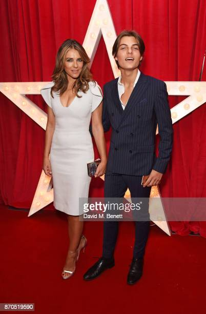 Elizabeth Hurley and son Damian Hurley attend the World Premiere of 'Paddington 2' at Odeon Leicester Square on November 5 2017 in London England