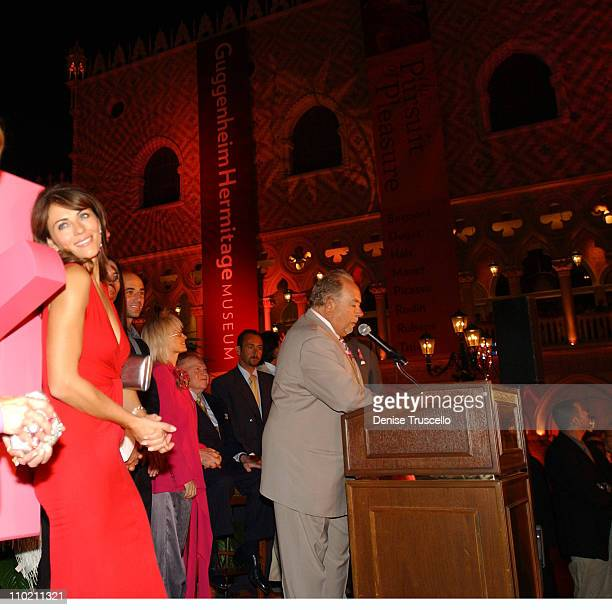 Elizabeth Hurley, Andre Agassi, Dr. Miriam Adelson, Sheldon G. Adelson and Robin Leach