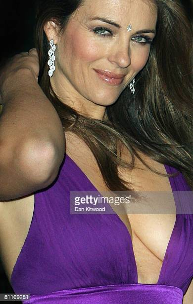 Elizabeth Hurley arrives at the Asian Women Of Achievement Awards at the Hilton Hotel on May 20 2008 in London England The event aims to recognise...