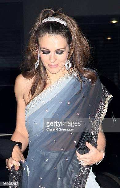 Elizabeth Hurley arrives at the Love Ball at The Roundhouse on February 23 2010 in London England