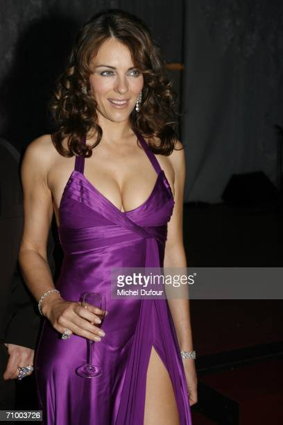 Elizabeth Hurley arrives for the Trophee Chopard ceremony which awards the best young actor and actress of the year at the Carlton Hotel as part of...