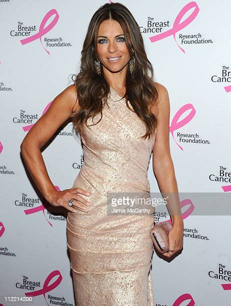 Elizabeth Hurley arrives to the 2011 Breast Cancer Research Foundation's Hot Pink Party at The Waldorf=Astoria on April 14 2011 in New York City