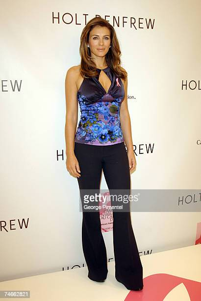 Elizabeth Hurley at the Holt Renfrew Store Sherbrooke St in Montreal Canada
