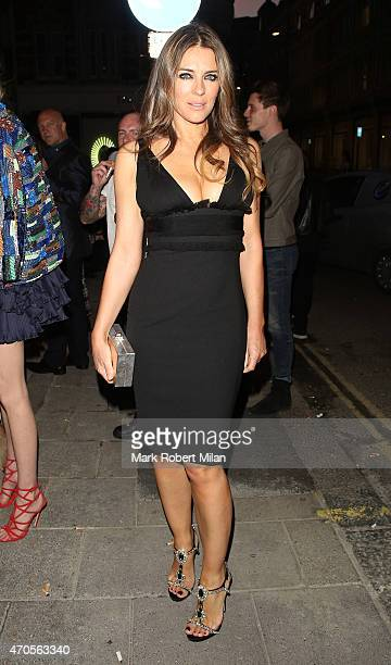 Elizabeth Hurley attending the Dsquared2 store opening on April 21 2015 in London England