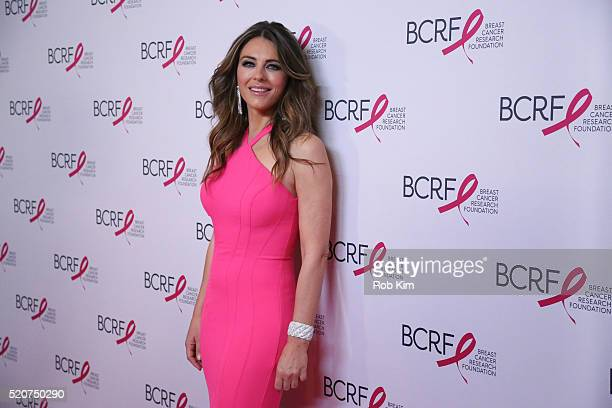 Elizabeth Hurley attends 2016 Breast Cancer Research Foundation Hot Pink Party at The Waldorf=Astoria on April 12, 2016 in New York City.