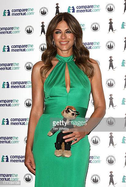 Elizabeth Hurley attends a photocall for the launch event for the special edition Agent Maiya toy for Comparethemarketcom at the Troxy on August 21...