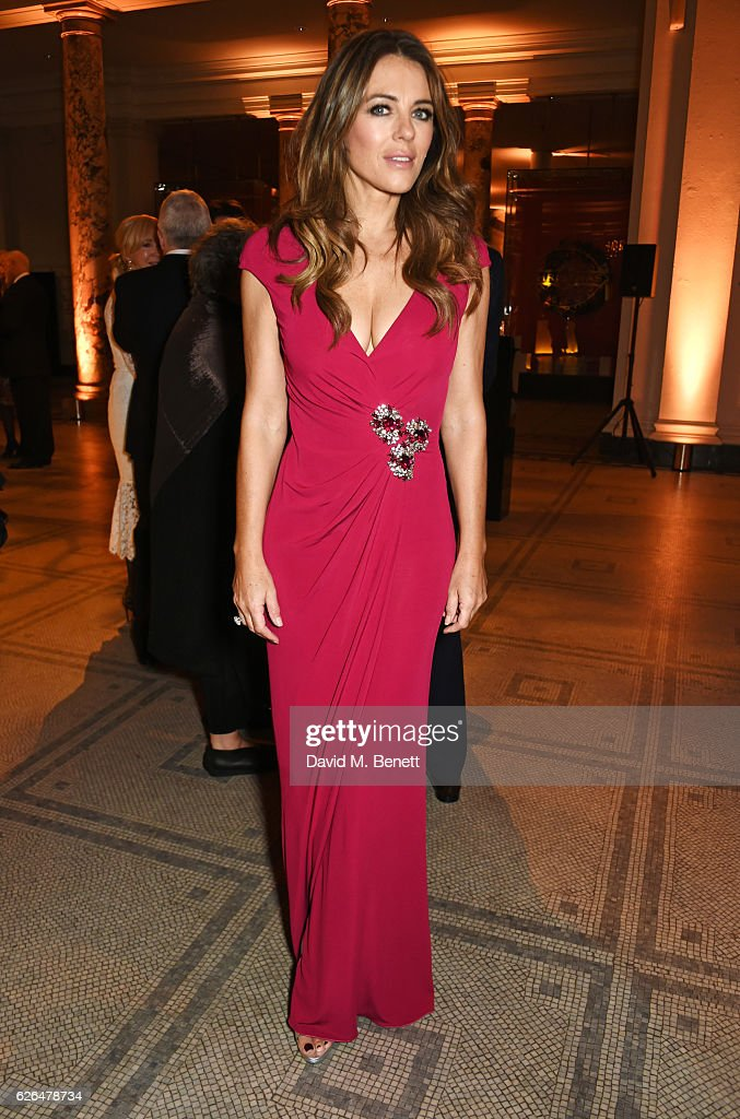 Elizabeth Hurley attends as PORTER hosts a special performance of Letters Live in celebration of their Incredible Women of 2016 at The V&A on November 29, 2016 in London, England.