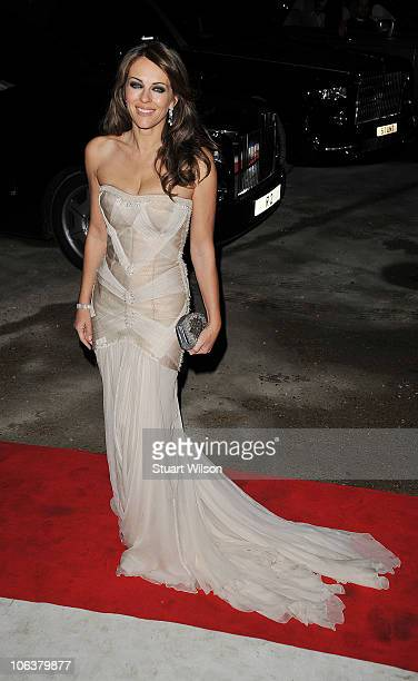 Elizabeth Hurley attends Grey Goose Character and Cocktails The Elton John AIDS Foundation Winter Ball at Maison de Mode on October 30 2010 in London...