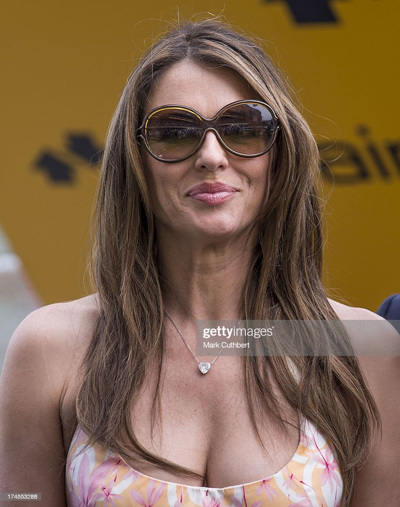 Elizabeth Hurley attends the Betfair weekend featuring The King George VI and Queen Elizabeth Stakes at Ascot Racecourse on July 27, 2013 in Ascot, England.