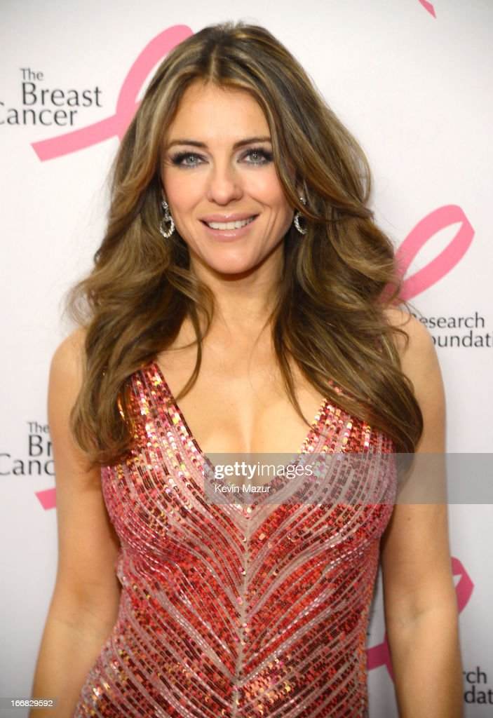Elizabeth Hurley attends the Breast Cancer Foundation's Hot Pink Party at the Waldorf Astoria Hotel on April 17, 2013 in New York City.
