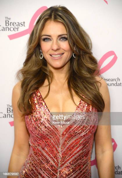 Elizabeth Hurley attends the Breast Cancer Foundation's Hot Pink Party at the Waldorf Astoria Hotel on April 17 2013 in New York City