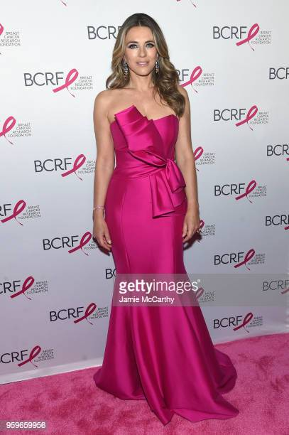 Elizabeth Hurley attends the Breast Cancer Research Foundation Hot Pink Gala hosted by Elizabeth Hurley at Park Avenue Armory on May 17, 2018 in New...