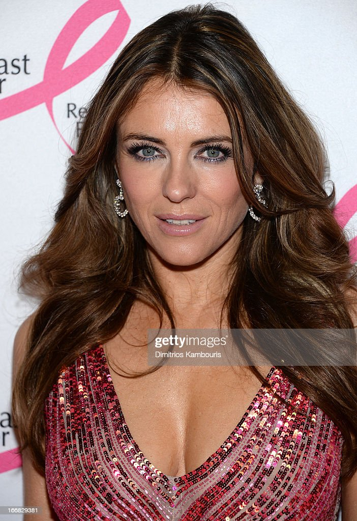 Elizabeth Hurley attends The Breast Cancer Research Foundation's 2013 Hot Pink Party at The Waldorf=Astoria on April 17, 2013 in New York City.