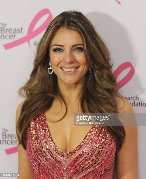 Elizabeth Hurley attends The Breast Cancer Research Foundation's 2013 Hot Pink Party at The Waldorf=Astoria on April 17 2013 in New York City