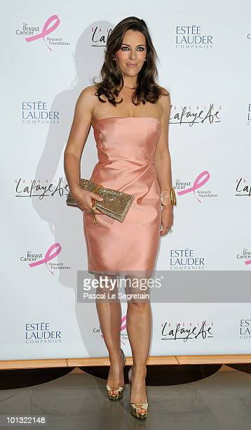 Elizabeth Hurley attends the Evelyn H. Lauder photo exhibition at Galeries Lafayette on June 1, 2010 in Paris, France.