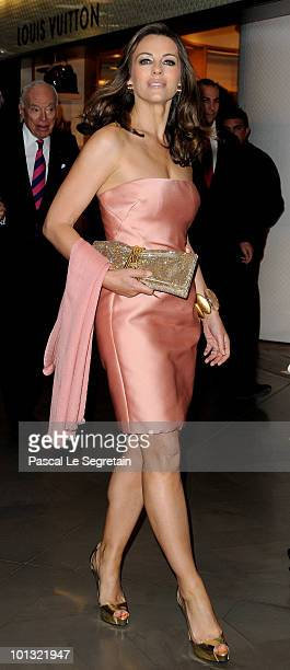 Elizabeth Hurley attends the Evelyne H. Lauder photo Exhibition at Galeries Lafayette on June 1, 2010 in Paris, France.
