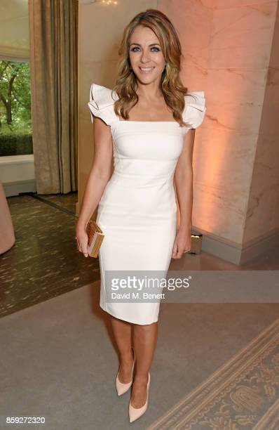 Elizabeth Hurley attends the Future Dreams 'Make Your Mark' ladies lunch at The Savoy Hotel on October 9 2017 in London England