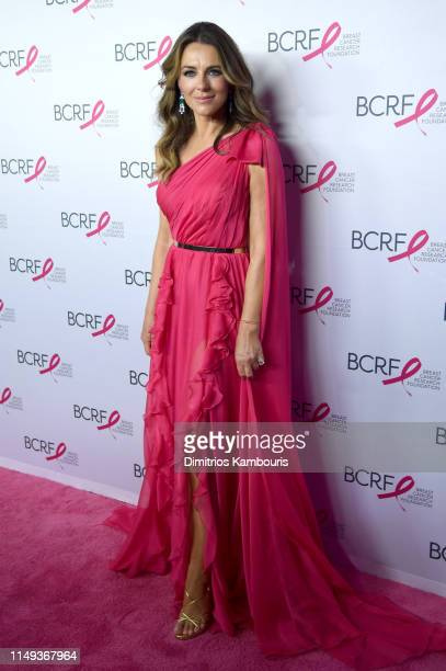 Elizabeth Hurley attends the Hot Pink Party hosted by the Breast Cancer Research Foundation at Park Avenue Armory on May 15 2019 in New York City