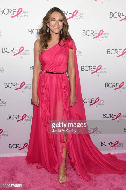 Elizabeth Hurley attends the Hot Pink Party hosted by the Breast Cancer Research Foundation at Park Avenue Armory on May 15, 2019 in New York City.