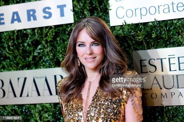 Elizabeth Hurley attends the Lincoln Center Corporate Fashion Gala honoring Leonard A. Lauder at Alice Tully Hall on November 18, 2019 in New York...
