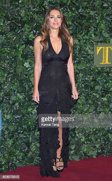 Elizabeth Hurley attends The London Evening Standard Theatre Awards at The Old Vic Theatre on November 13 2016 in London England