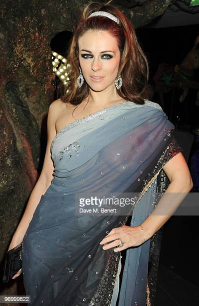 Elizabeth Hurley attends the Love Ball London at the Roundhouse on February 23 2010 in London England
